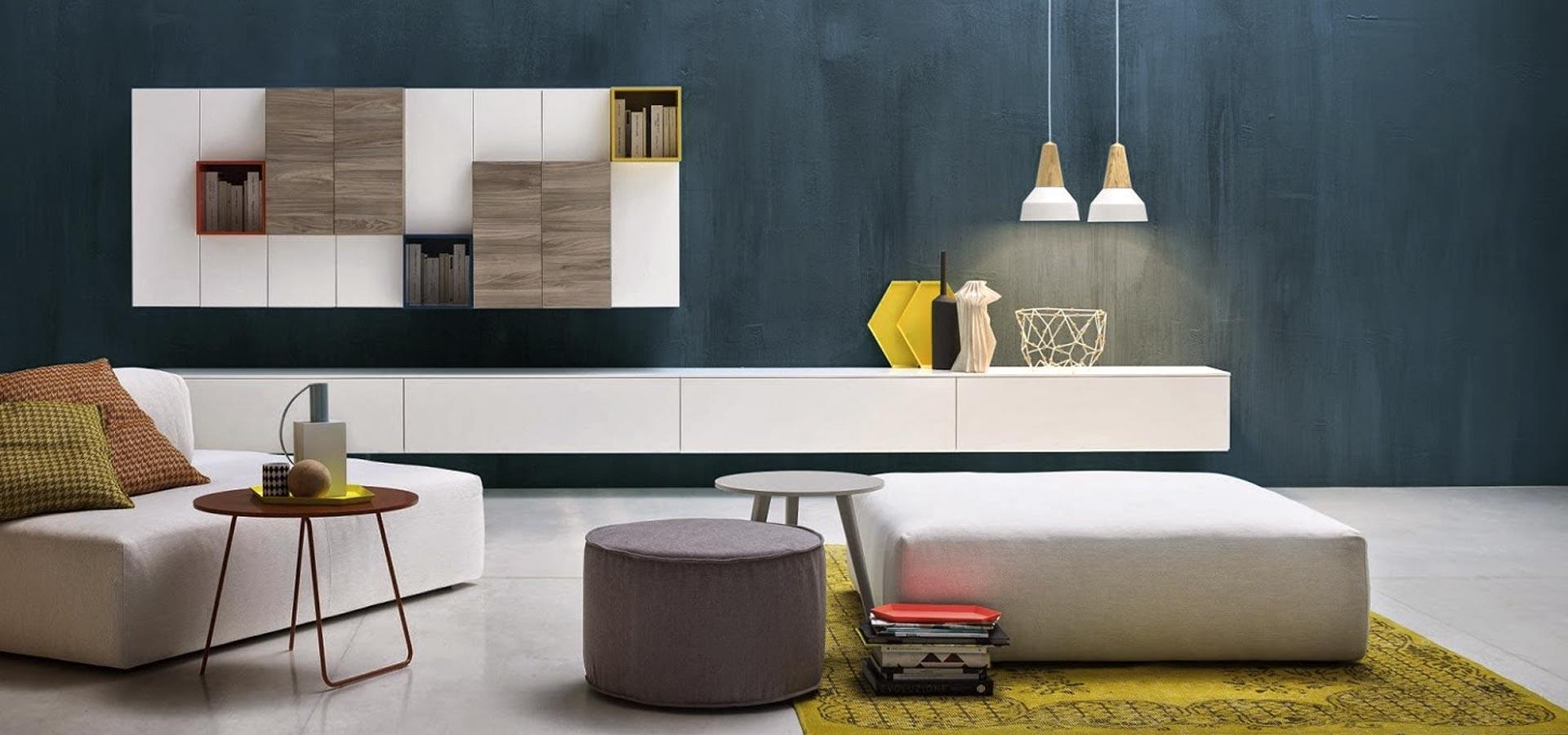 Muebles para la sala de estar y televisi n de dise o ismoble for Muebles tv colgados