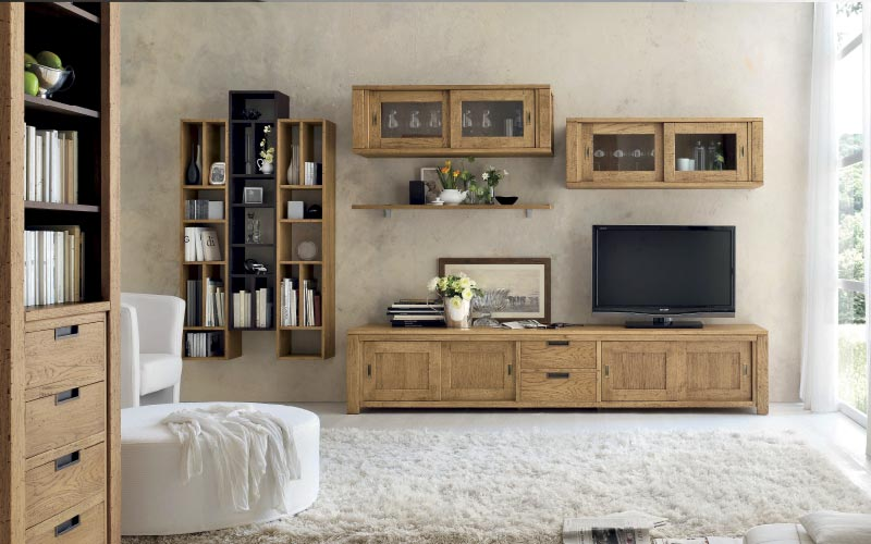 mueble tv madera maciza