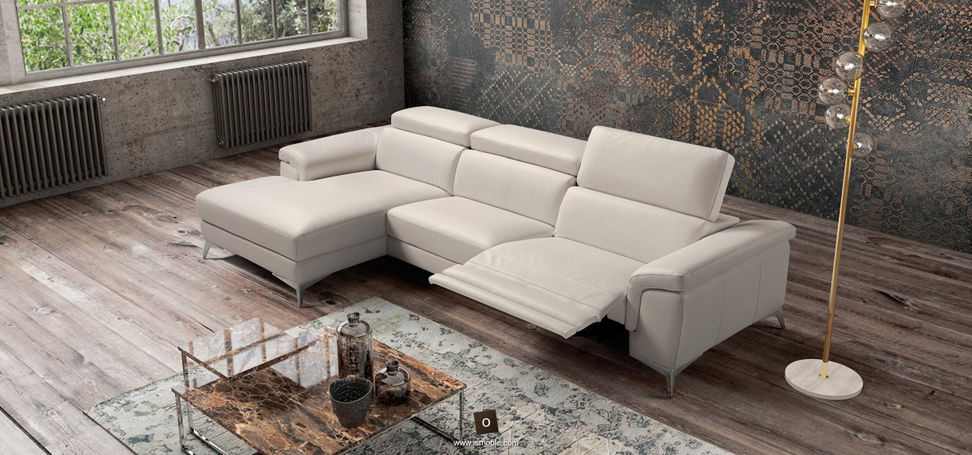 Sofà reclinable amb home cinema