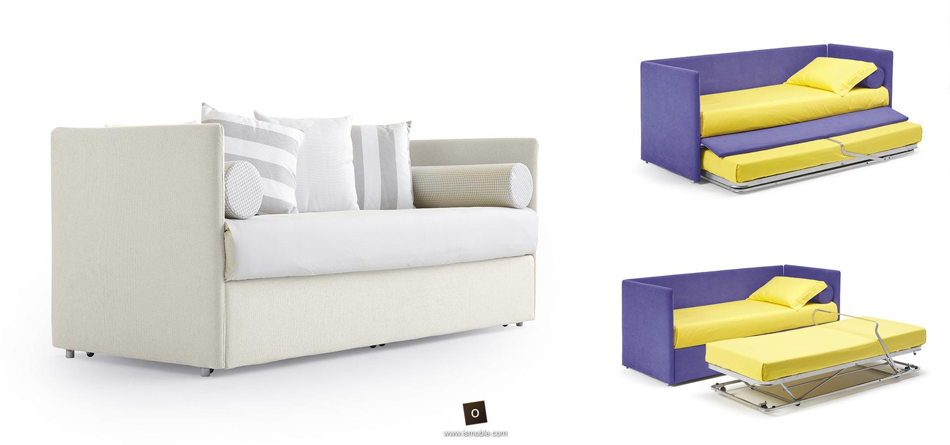 Sof s cama de dise o con patas de madera y diversos - Sofa cama desplegable ...