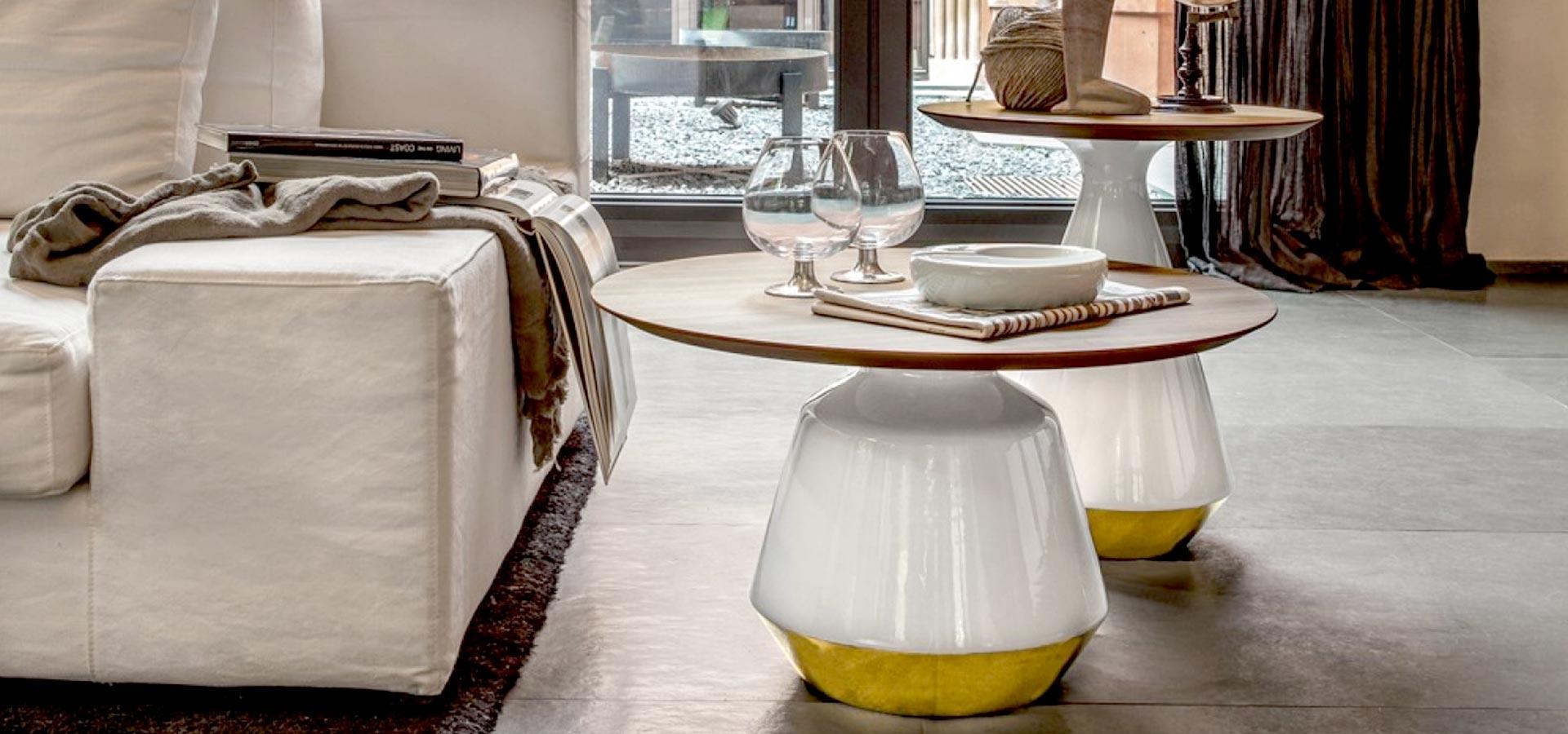 Mesas y mesitas auxiliares de dise o para el lado del sof - Mesita auxiliar sofa ...